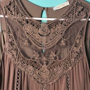 Entro sleeveless lace crochet top